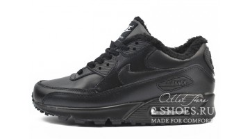 Кроссовки женские Nike Air Max 90 Winter Black Leather