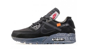 Кроссовки Мужские Nike Air Max 90 Off White All Black
