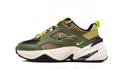 Nike M2K Tekno Medium Olive Black Yukon Brown