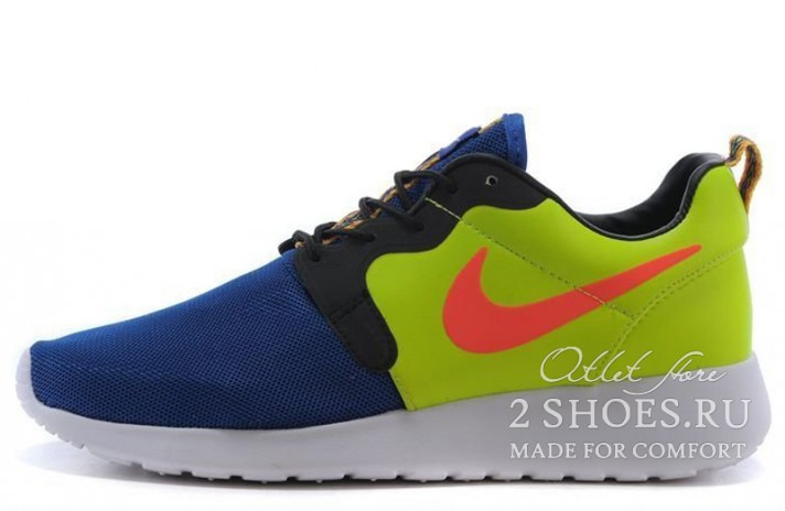 Nike Roshe Run Hyperfuse (HYP) Game Royal Hyper Punch Volt Ivory синие