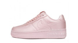 Nike Air Force 1 Low Shiny Pink розовые кожаные