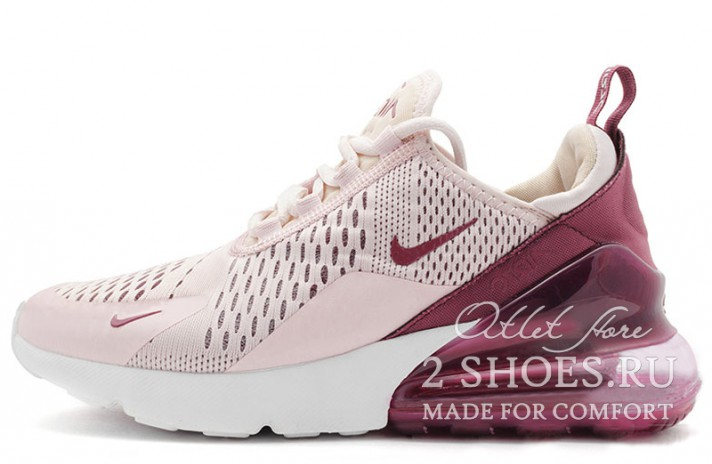 sports shoes b7736 77f85 Кроссовки Nike Air Max 270 Barely Rose Vintage Wine