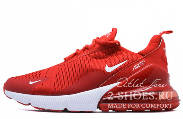 Nike Air Max 270 Red Full красные, фото 1