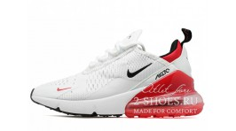 Nike Air Max 270 White Red белые
