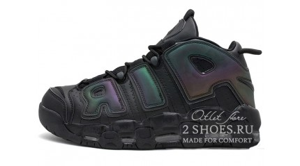 Nike Air More Uptempo 96 GS Reflective Black
