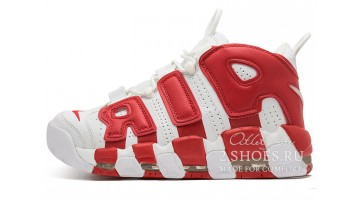 Кроссовки Мужские Nike Air More Uptempo 96 White Red