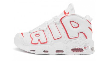 Кроссовки Мужские Nike Air More Uptempo 96 White Varsity Red