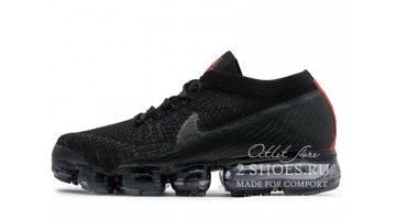 Кроссовки Мужские Nike Air VaporMax Flyknit Black​ Red