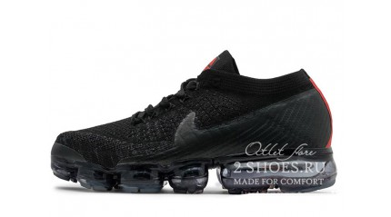 Nike Air VaporMax Flyknit Black​ Red