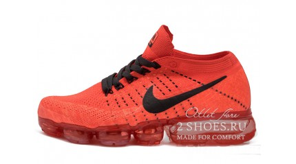 Nike Air VaporMax Flyknit University Red Black