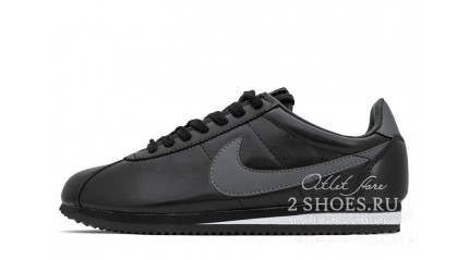 Nike Cortez Leather Black Gray