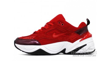Кроссовки женские Nike M2K Tekno University Red Suede Bright