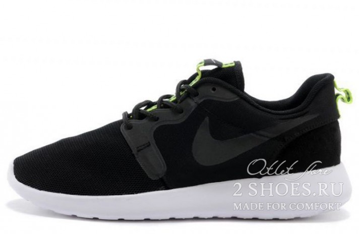 Nike Roshe Run Hyperfuse (HYP) Black Venom Green черные