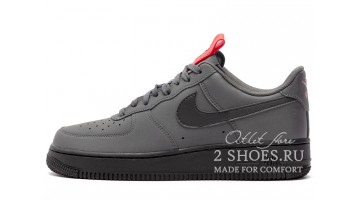 Кроссовки Мужские Nike Air Force 1 Low Anthracite Black Red