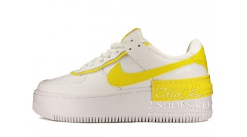 Кроссовки Женские Nike Air Force 1 Shadow White Yellow