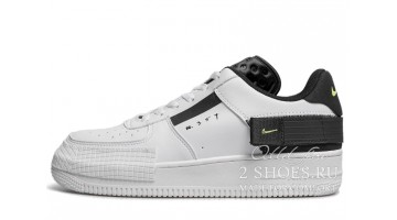 Кроссовки мужские Nike Air Force 1 Type N354 White Volt Black