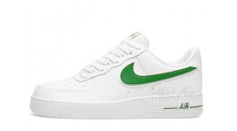 Nike Air Force 1 Low White Green белые кожаные