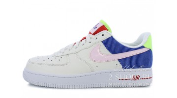 Кроссовки Женские Nike Air Force 1 Corduroy Arctic Pink Blue