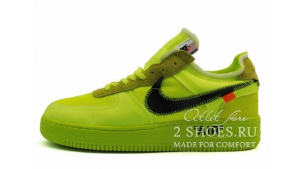 Nike Air Force 1 Low Off White Volt Hyper Jade