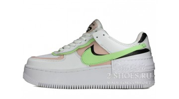 Кроссовки Женские Nike Air Force 1 Low Shadow White Peach Green