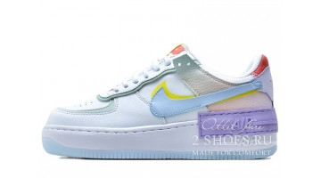 Кроссовки Женские Nike Air Force 1 Shadow White Hydrogen Blue