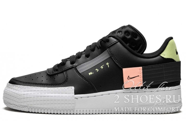Кроссовки Nike Air Force 1 Type N354 Black