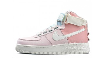 Кроссовки женские Nike Air Force 1 Utility High Pink White