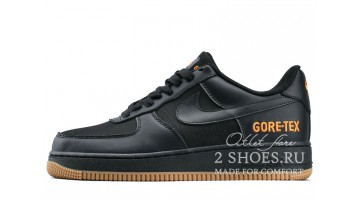 Кроссовки мужские Nike Air Force Low Gore-Tex Black Carbon