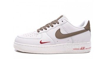 Кроссовки Мужские Nike Air Force Low ID White Brown Red