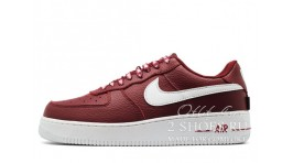 Nike Air Force 1 Low LV8 NBA Pack Wine бордовые кожаные