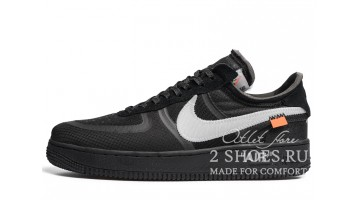 Кроссовки мужские Nike Air Force Low Off White Cone Black