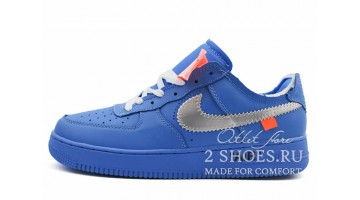 Кроссовки мужские Nike Air Force Low Off White MCA Blue