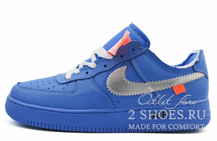 Кроссовки Nike Air Force 1 Low Off White MCA University Blue