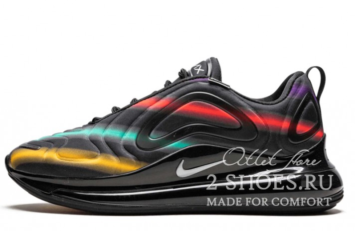 Кроссовки Nike Air Max 720 Black Neon Streaks