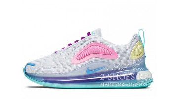 Кроссовки женские Nike Air Max 720 White Aqua Psychic Powder