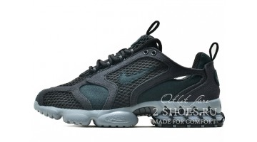 Кроссовки мужские Nike Air Zoom Spiridon Cage 2 Stussy Black Grey