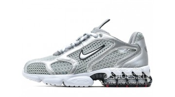 Кроссовки мужские Nike Air Zoom Spiridon Cage 2 Metallic Silver