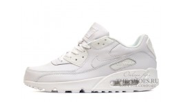Nike Air Max 90 Leather Pure White белые кожаные