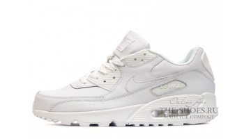 Кроссовки Мужские Nike Air Max 90 Leather Pure White