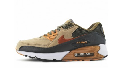Air Max 90 КРОССОВКИ МУЖСКИЕ<br/> NIKE AIR MAX 90 LTHR IRON BRONZE STORM