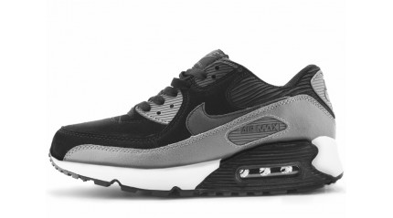 Air Max 90 КРОССОВКИ ЖЕНСКИЕ<br/> NIKE AIR MAX 90 LTHR BLACK GRAY
