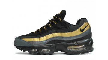 Кроссовки Мужские Nike Air Max 95 prm black metallic gold