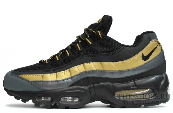 Кроссовки Nike Air Max 95 premium black metallic gold