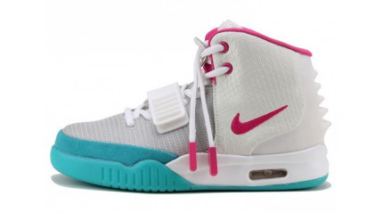 Nike Air Yeezy 2 White Blue Rose