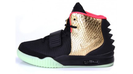 Nike Air Yeezy 2 Imperial Black Gold