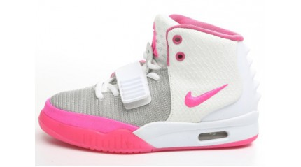 Nike Air Yeezy 2 White Pink Department