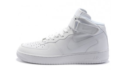 Nike Air Force 1 Mid Pure White Leather