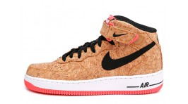 Nike Air Force 1 Mid Cork White Black Red желтые