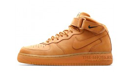Nike Air Force 1 Mid Wheat Flax Yellow желтые