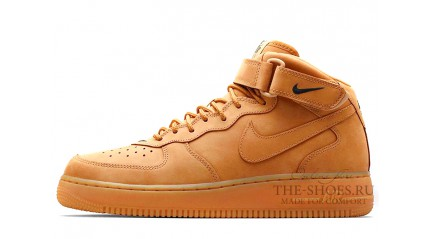 Nike Air Force 1 Mid Wheat Flax Yellow